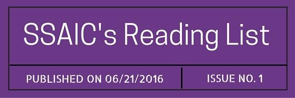 SSAIC's Reading List (1)